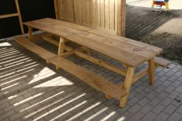Sestava stolu s lavičkami - 2 m