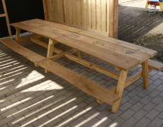 Sestava stolu s lavičkami - 3 m